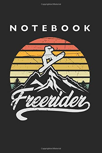 Freerider Snowboarder Notebook: Lined College Ruled Notebook (9x6 inches, 120 pages): For School, Notes, Drawing, and Journaling