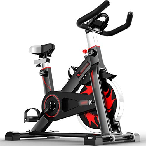Bicicletas estáticas Bicicleta deportiva con portavasos,Bicicleta giratoria Silent Workout para oficina,Equipo de fitness ajustable,Puede soportar 120 kg ( Color : Black , Size : 105*55*102-109cm )