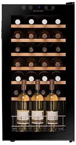 Dunavox Weinkühler, freistehend, 28 Flaschen, DX-28.88KF, Schwarz
