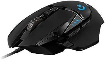 Logitech G502 HERO Ratón Gaming con Cable Alto Rendimiento, Sensor HERO 16K, 16 000 DPI, RGB, Peso Personalizable, 11...