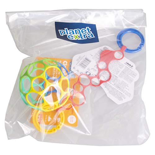 Planetextra Oball Set – Design flexible et facile à saisir, pour les enfants de tout âge, jouet de motricité, facile à nettoyer, saisir et mordre