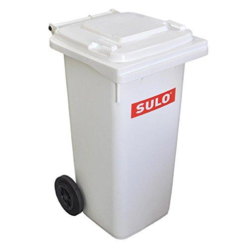 SULO Mülltonne Müllbehälter 120 liter weiß, nachrüstbar mit Vario-Einsatz 35, 60 und 80 Liter