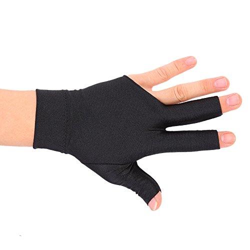 Billardhandschuhe 2 Stück Unisex Dehnbar 3 Finger Snooker Handschuh für Billard Zubehör 3-Finger-Handschuhe Billard Snooker Queue Handschuhe