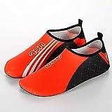 MAATCHH Chaussures d'eau Chaussures de Suivi Piscine Yoga Chaussures de Sport Tapis de Course Hommes Femmes pour Le Surf (Color : Orange, Taille : 38-39)