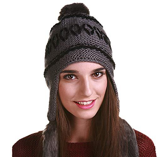 DENISO Beanies for Women Winter Hats Knit Warm Skull Ski Ear Flaps...