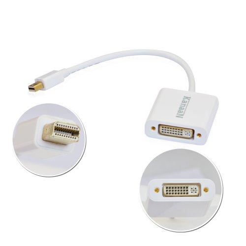 Leicke, Kanaan, Adattatore Mini Display Port In Dvi Per Pc E Apple/Imac, Mac, Macbookpro, Macbookair