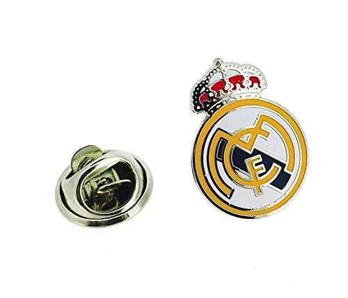 Gemelolandia | Pins y Parches del Real Madrid | Muy Adherentes | Patch Stickers Para Decorar Tu Ropa | Fáciles de Poner Gemelos Originales Para Camisas | Para Hombres y Niños