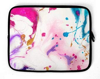 Abstract Watercolor Laptop Sleeve, Laptop case, Device Sleeve, Laptop Bag, for MacBook 12' 13' 14' 15' 16'