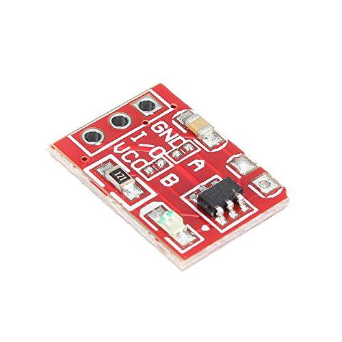 Quickbuying 2.5-5.5V TTP223 Módulo de bloqueo automático capacitivo del botón del interruptor táctil L/H para Arduino 11.5x8mm