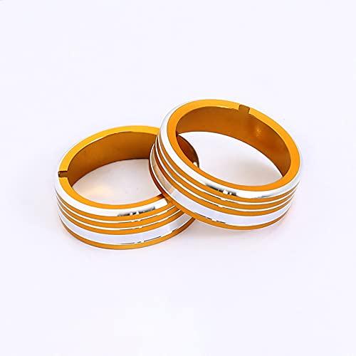 SUKLIER Aluminum Alloy Car Air Conditioner Adjust Knob Switch Decoration Ring Trim For Nissan Qashqai Car Styling Accessory 2pcs/Set