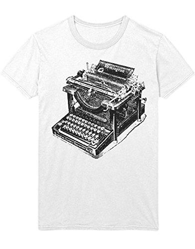 Hypeshirt T-Shirt Remington Typewriter H112233 Bianco S