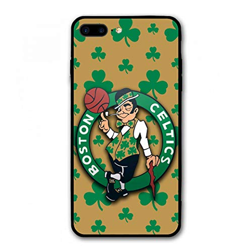 Phone Case for iPhone 7 Plus iPhone 8 Plus, Ultra-Thin Printed Acrylic Rear Panel Shockproof, with Soft TPU Bumper Military Cover for iPhone 7 Plus / 8 Plus Only 5.5 inches (Celtics-Shamrock)