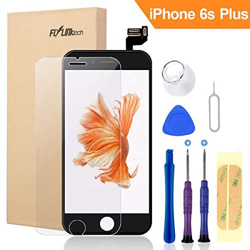 FLYLINKTECH Für iPhone 6s Plus Display Schwarz, LCD 3D Touchscreen Digitizer Assembly mit Werkzeuge und Displayschutzfolie Für iPhone 6s Plus (Schwarz)