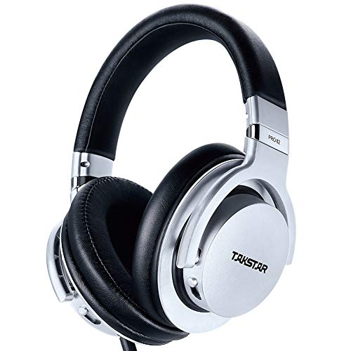 TAKSTAR - Auriculares in-ear con monitor de sonido estéreo HiFi, con cancelación de ruido, para grabación y monitoreo de música, auriculares Pro 82, color plateado