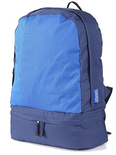 """Düssel """"Indus Zaino Leggero per cabine di aerei con scomparto imbottito per laptop/bagaglio a mano per Easyjet Ryanair portatili fino a 17, 55x 40x 20cm, Blue/Dark Blue (viola) - BG37039NC"""