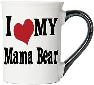Cottage Creek Mama Bear Gifts 18 Ounce Mama Bear Ceramic Coffee Mug/Gifts for Mom Mom Mugs [White]