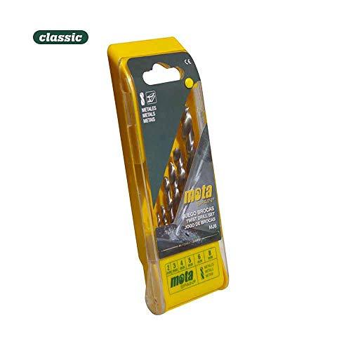 Mota Outils 39354 Jeu de forets métriques pour bois, argent, 4-10 mm