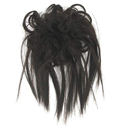 Kentop Réglable Postiche Cheveux en Caoutchouc Chouchou Chignons Volumineux Bouclés Ou Chignon Décoiffé Salissant