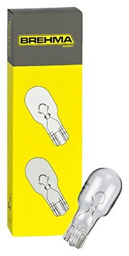 BREHMA 10x Glassockellampe W16W 12 Volt 16 Watt W2.1x9.5d