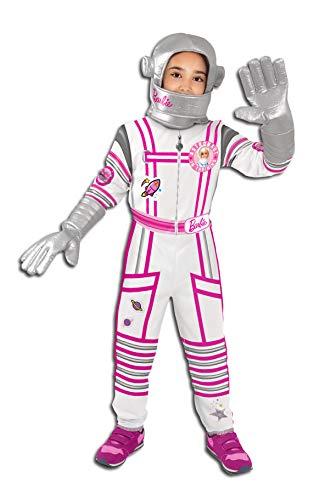 Ciao-Barbie Space Star astronauta costume travestimento bambina originale (Taglia 8-10 anni), Bianco, 11559.8-10