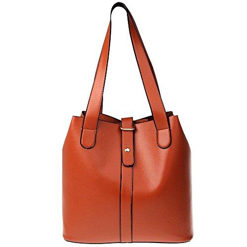 Vbiger borsa Tote Bag in pelle donne semplici 2 in 1 (nero) (Marrone 2)