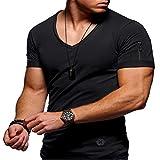 Verano Nuevo Cuello Redondo Slim Hombres de Manga Corta Camiseta de algodón Camisa de Fondo