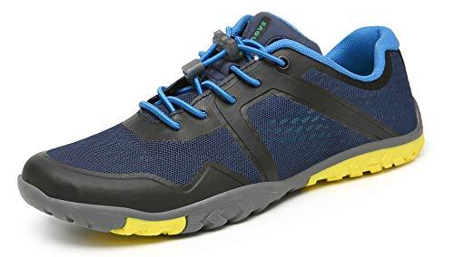 SAGUARO Zapatos Descalzo Hombre Mujer Calzado de Trail Running Antideslizante Zapatillas Deportes Ligero para Correr Fitness Gimnasio Asfalto Senderismo Caminar, 069 Azul, 42 EU