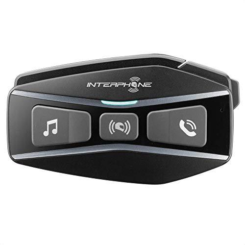 INTERPHONE Cellularline INTERPHOUCOM16 | Bluetooth 5.0 Auriculares Manos Libres para Casco Moto con Tecnología Mesh 2.0, para 24 Motoristas Distancia 1,6Km, hasta 15 Horas, MP3, GPS, Impermeable IP67