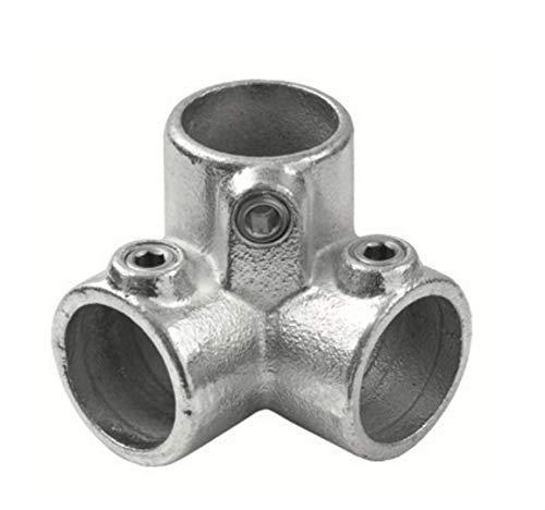 Conector de 3Vías ángulo hidráulico estilo industrial para tubo redondo diámetro 28–35mm para de oreja a 't' para la creación de bisagras de hierro