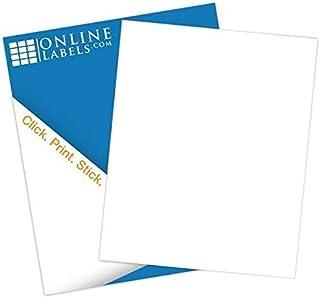 Waterproof Polyester Full Sheet Labels - 8.5 x 11-100 Sheets - Laser Printers - Vertical Back Slit for Easy Peeling - Online Labels