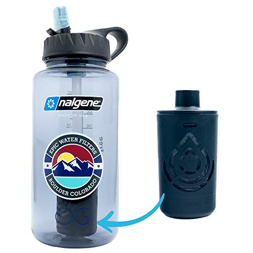 Epic Nalgene OG | Water Bottle with Filter | USA Made Bottle and Filter | Dishwasher Safe | Filtered...