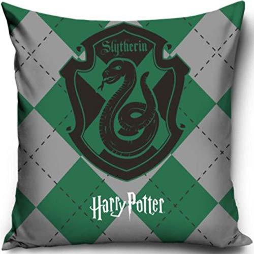 Warner Brother Offizielles Harry Potter Slytherin Kissen Bedruckt, dekorativer Überwurf, Slytherin Haus Harry Potter Kissenbezug
