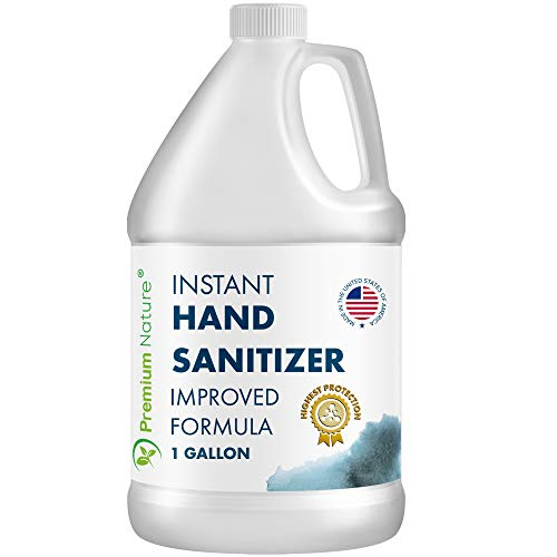 Instant Hand Sanitizer Gel - Value Size Advanced Natural Hand Sanitize Cleaner Portable Aloe Vera Moisturizer Packaging May Vary (1 Gallon)