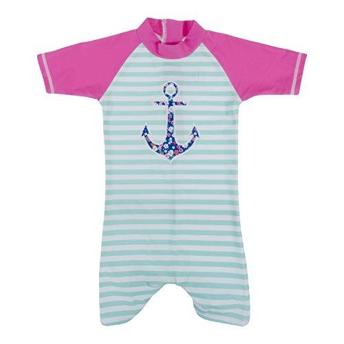 Baby Banz Shorty di Natación Termico ANTI-UV Manga Corta Ancla, 4 años.