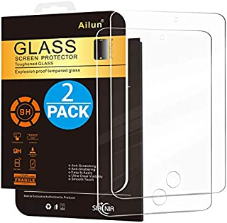 Ailun Screen Protector Compatible with iPad Mini 1 2 3 Tempered Glass 9H Hardness 2Pack Compatible with Apple iPad Mini 1 2 3 Ultra Clear 2.5D Edge Anti-Scratch Case Friendly