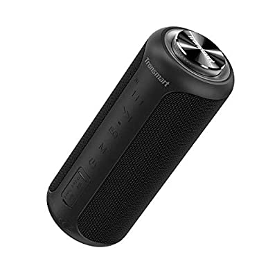 Bluetooth Speaker 5.0, Tronsmart T6 Plus Upgraded Edition 40W Portable Outdoor Wireless Speaker With Tri-Bass Effects, 6600mAh Powerbank, IPX6 Waterproof, 15 Hrs Playtime, TWS, Voice Assistant,NFC from Tronsmart