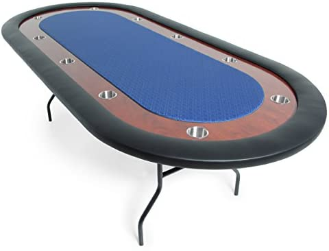 BBO Poker Ultimate Folding Poker Table for 10 Players with Blue Speed Cloth Playing Surface product image