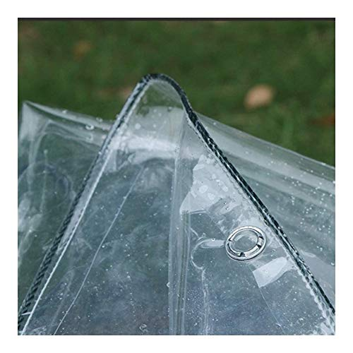 SH Junta Impermeable Espesado Transparente de plástico Transparente de plástico Lona Usado Balcón Ventana de Aislamiento -0.3mm (Color : Clear, Size : 1x2m)