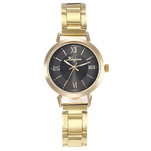 TWISFER Damen Analog Quarz Uhren Römische Ziffern Zifferblatt mit Edelstahl Armband Frauen Kleiden Uhr Beiläufig Mode Uhren Armbanduhr