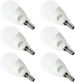 Lebeyo E12 LED G45 Bulb Lamp 5W 50W Equivalent Candelabra Daylight White 5000K Light Bulb (GLE12-01, Pack of 6)