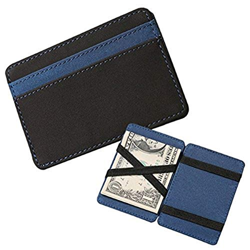 Ducomi® Portafoglio Magico in simili cuoio - Magic Wallet Credit Card Holder (Blue)
