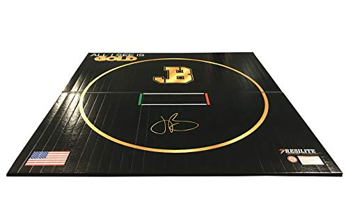 Resilite Wrestling Mat for Home Use Workout Equipment and Sports Products – Jordan Burroughs Signature Series (Black)