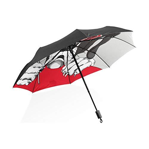 Regen Männer Regenschirm Deutsche Dogge Hund Rot Grill Gläser Tragbare Kompakte Taschenschirm Anti Uv Schutz Winddicht Outdoor Reise Frauen Kinder Regenschirme Für Regen Jungen