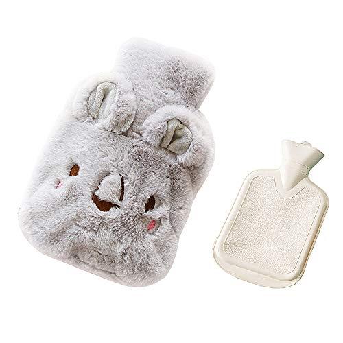 Drizzle Borsa dell'acqua calda Gomma Premium Serie animali con copertura in pile soffice (Koala gray)