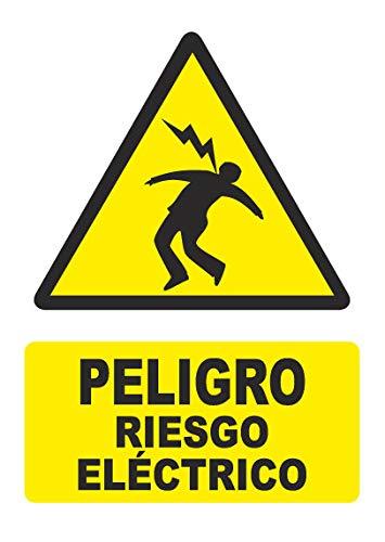Señal PELIGRO RIESGO ELECTRICO - PVC 0,7mm - 21 x 30cm –...
