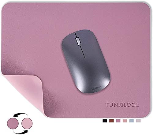 TUNJILOOL tappetino mouse doppio lato Mouse Pad impermeabile in pelle pu Tappetino da Scrittoio 270 x 210 mm , antiscivolo Mouse Pad per PC giochi casa ufficio