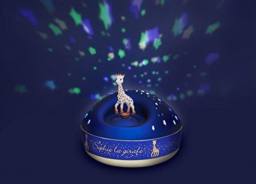 TROUSSELIER - Sophie La Girafe - Veilleuse - Idéal Cadeau Enfant - Projecteur d'Etoiles Musical - Figurine rotative - Piles inclues