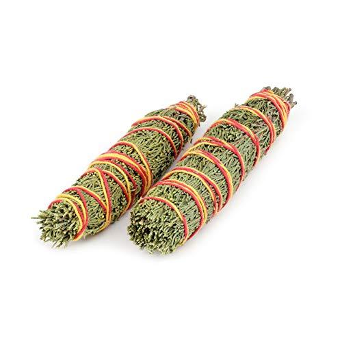 Jeneverbes Smudge Sticks: 2 Jeneverbes Wierookstokjes | Natuurlijke Wierook voor Huis Reiniging, Zegening en Overvloed | Aromatisch Smudge Kruid met Zoete en Pittige Geur | Verpakking van 2 Stuks 18-20 cm