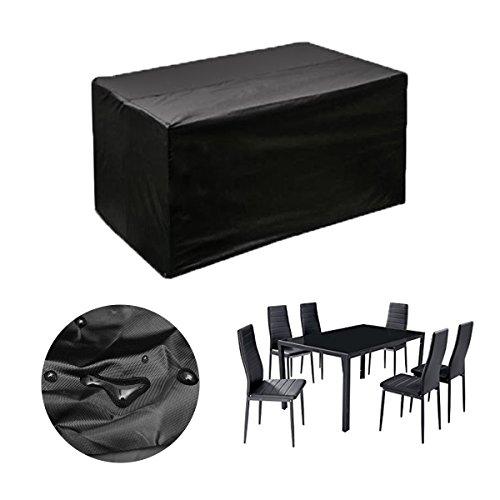 king do way Funda Mesa Jardin 230x165x80 cm,Conjuntos de Muebles Cubierta Impermeable para Sofa de Jardin, al Aire Libre, Patio, Plazas Funda para Sofa de Esquina, 420D, in PVC