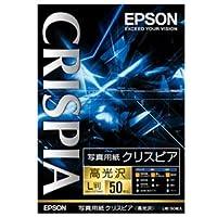 (まとめ) エプソン EPSON 写真用紙クリスピア<高光沢> L判 KL50SCKR 1冊(50枚) 【×5セット】